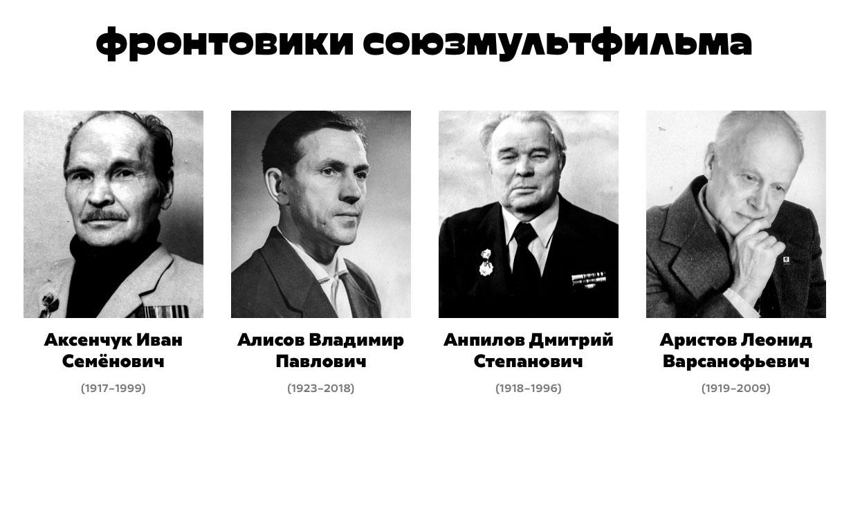 Фронтовики киностудии Союзмультфильм